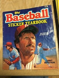 1987 Topps Baseball Sticker Yearbook Some Stickers
