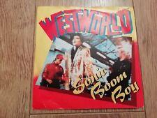 "WESTWORLD * SONIC BOOM BOY * 7"" SINGLE P/S EXCELLENT 1987"