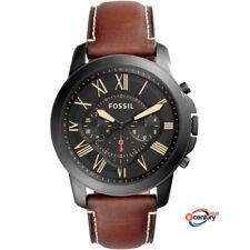 Fossil FS5241 Men's Quartz Grant Chronograph Dark Brown Leather Strap Watch