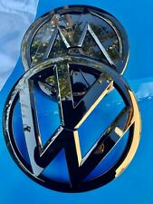 LOGO VW CALANDRE + COFFRE GOLF VII 7 MK7 NOIR BRILLANT ORIGINAL 5G08536012ZZ