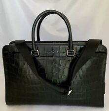 COACH F73526 Beckett Structure Briefcase Croc Leather NI/Black NWT MSRP: $698