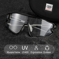 CATEYE Photochromic Goggles Cycling Glasses Sunglasses Eyewear Black UV400 New