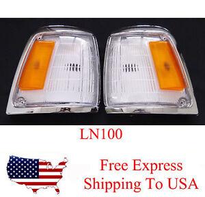 Corner Light Lamp Cover Len Pair Fits Toyota Hilux Pickup Truck LN100 1989-1994
