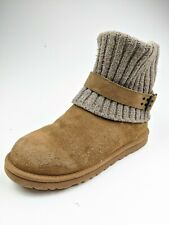 UGG Cambridge Cable Knit Shearling Boots 1003175 Sz 11
