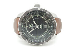 Mens Vostok-Europe N1 Rocket Russian S.S. Brown Leather Band 46mm Watch w/Box
