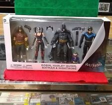 DC COLLECTIBLES BATMAN ARKHAM CITY; ROBIN, HARLEY QUINN, BATMAN, & NIGHTWING