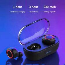 Wireless Earbuds Bluetooth 5.0 Stereo Waterproof Charging Case Headphone w/ Mic