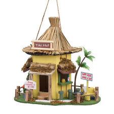 Hawaiian Tiki Hut Beach Birdhouse Bird House New!