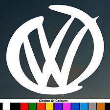 2 X VW LOGO DESIGN SURF Funny Car/Window JDM VW EURO Vinyl Decal Sticker