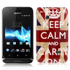 Hardcase für Sony xperia Tipo Dual St21i Keep calm and carry on Hülle Schutzcase