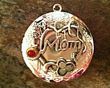 "MOM Tree of Life Locket Mother's Day Necklace on Sterling Silver 18"" Chain"