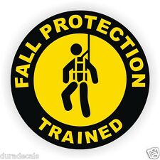Fall Protection Trained Hard Hat Decal ~ Helmet Sticker Safety Harness Scaffold