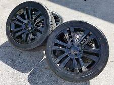 22 GMC Denali Black Wheels & Tire Package Rims 2019 Yukon Sierra Silverado Tahoe