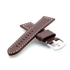 Uhrband vera pelle bovina pelle oggetti da 18 mm Marrone Dornschliesse Nastro di ricambio