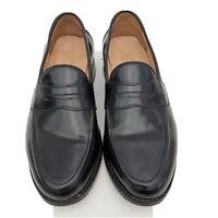 Samuel Windsor Loafer Slip On Shoe Sz 8.5 UK Handmade Black Leather Upper & Sole