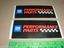 GM General Motors vtg new Performance Parts decal stickers AC delco goodwrench