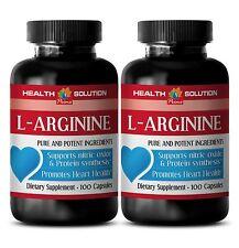 Male Enlargement Pills L-ARGININE 500MG Made in USA 2 Bottles 200 Capsules
