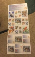 1995 NWF NATIONAL WILDLIFE FEDERATION Christmas Stamps Seals Full Sheet