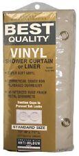 "Ex-Cell 70"" x 72"" Ecru Hd Vinyl Shower Curtain /Liner"