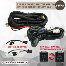 2Lead 960W LED Driving Light Bar Wiring Harness DT Kit 12 24V 40A Fuse 60A Relay