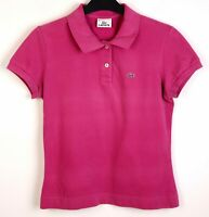 LACOSTE Polo Shirt EU 36 Women UK 8 Pink Cotton Short Sleeve S RAxxh