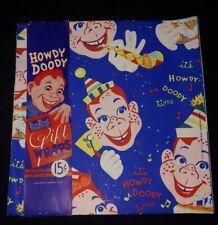 WRAPPING PAPER GIFT WRAP 1950 BEN MONT HOWDY DOODY BIRTHDAY KAGRAN Original