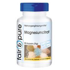 Magnesiumcitrat 90 Kapseln, Fair & Pure Reinsubstanz