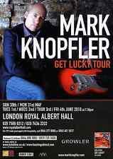 MARK KNOPFLER 2010 TOUR FLYER - RARE LIVE CONCERT ROYAL ALBERT HALL MUSIC PROMO