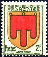 "FRANCE TIMBRE STAMP N°837 ""ARMOIRIES DE PROVINCES, AUVERGNE"" NEUF X TB"