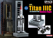 SPACE : NASA TITAN IIIC WITH LAUNCH PAD MAIDEN VOYAGE VERSION 1/400 SCALE