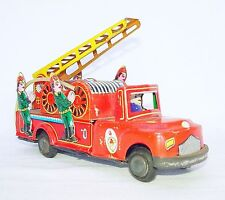 Ne-Kur Turkmali Turkey Fire Engine Ladder Truck Tin Toy 19cm Friction Car Nm`70!