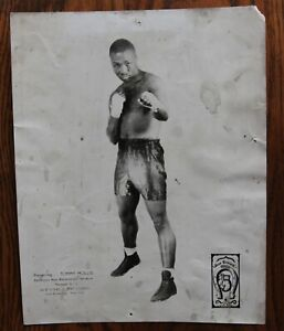 Original Vintage Boxing Promo Photo: 1930's-40's Middleweight Tommy Mollis