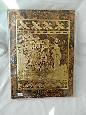 """Egyptian Genuine Camel Leather Large Notebook Hunting Fishing 12"""" X 9.5"""" #73"""