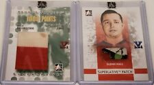 3 ITG Hockey Cards, Game-Used Cards - Alex Delvecchio, Glenn Hall, Guy Lafleur