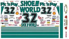 32 Dale Jarrett Shoe World 1/32nd Scale Slot Car Decals