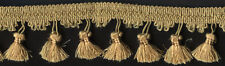 "2&1/2"" Gold Tassel Fabric Fringe Upholstery Trim 11 Yards Sewing Embellishment"