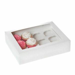 10 mini Cupcake Muffin Box 12 er Aufbewahrungsbox Geschenkbox Karton Verpackung