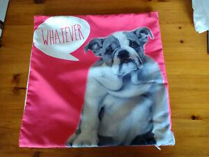 English Bulldog Novelty/Fun Cushion Cover