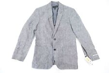 INC INTERNATIONAL CONCEPTS STRIPED MEDIUM LINEN SUMMER BLAZER SPORT COAT JACKET