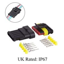 Waterproof 5 Way Pin Electrical Wire Joint Superseal Connector / UK Rated: IP67