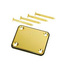Gold Neck Plate with Screws For Fender Strat Electric GUITAR