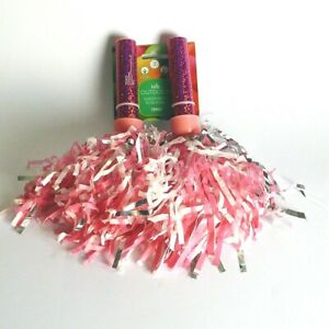 Girl's Cheerleader Pair of Pom Poms - Pink - Sweetheart - Outdoor Play