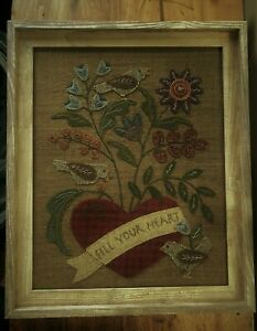 """WOOL APPLIQUE KIT """"FILL YOUR HEART"""""""