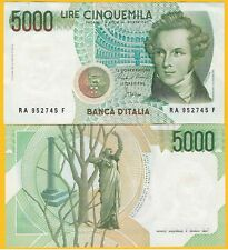 Italy 5000 Lire p-111a 1985 XF Banknote