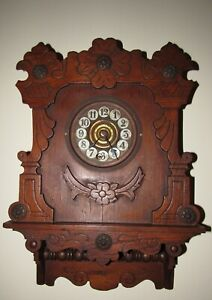 "Antique Waterbury ""Colonial"" Time Piece Wall Clock 8-Day, Key-wind"