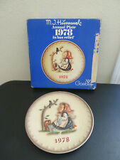 "Goebel Hummel 1978 8th Annual Plate ""Happy Pastime"" Hum 271"
