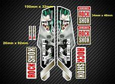 ROCK Shox Reba stile Sospensione Forcella Decalcomania / Adesivi rx71