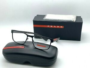 Prada Sport  Eyeglasses OPS 50GV VYY101 MATTE BLACK/BROWN 55-17-140MM  Italy NIB