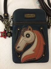 Chala Horse Cell Phone Navy Blue Crossbody Bag Small Convertible Purse New
