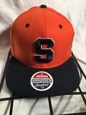 96b70f36 Syracuse University Snapback Hat Zephyr 2 Tone Classic Logo NCAA Football  Cap